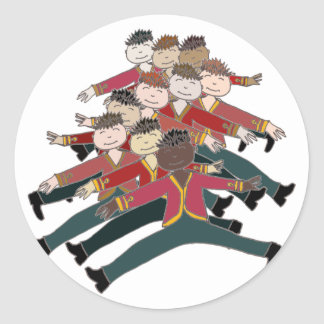 10 Lords a-leaping Classic Round Sticker