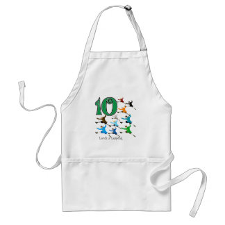 10 Lords Leaping Standard Apron