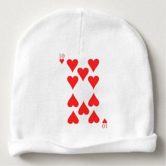10 of Hearts Baby Beanie