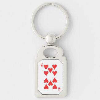 10 of Hearts Key Ring