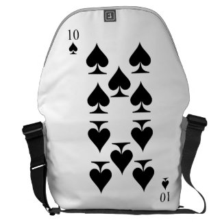 10 of Spades Courier Bag