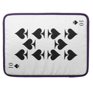 10 of Spades Sleeve For MacBook Pro