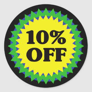 10 OFF RETAIL SALE Stickers