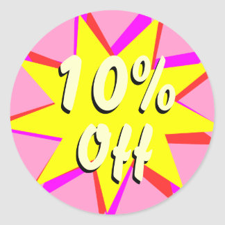 10% Off Retail Sale Stickers