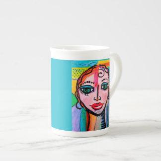 10 oz Colorful Porcelain mug. Bone China Mug
