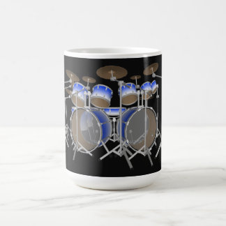 10 Piece Drum Kit: Blue Gradient: Coffee Mug