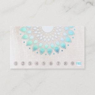 10 Punch Customer Loyalty Turquoise Lotus