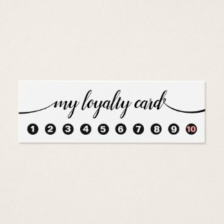 10 Punch Handwritten Calligraphy Loyalty Mini Business Card