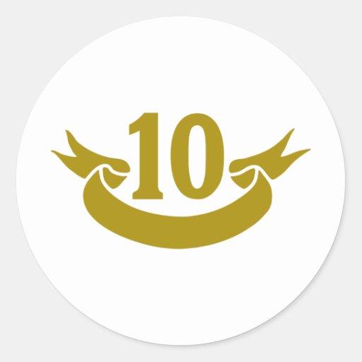 10-real-tape round sticker