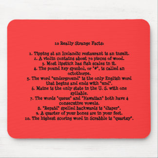 10 Really Strange Facts Mouse Pad