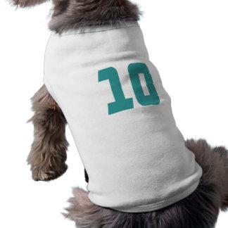 #10 Teal Bold Pet T Shirt