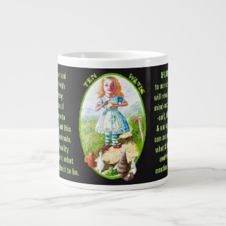 10. Ten of Wands - Alice tarot Large Coffee Mug