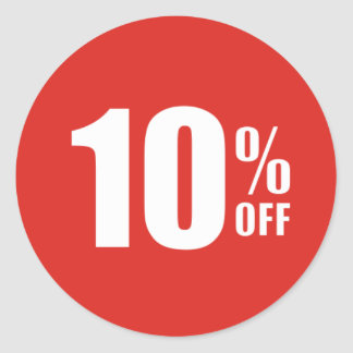 10% Ten Percent OFF Discount Sale Sticker