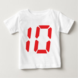 10 ten  red alarm clock digital number baby T-Shirt