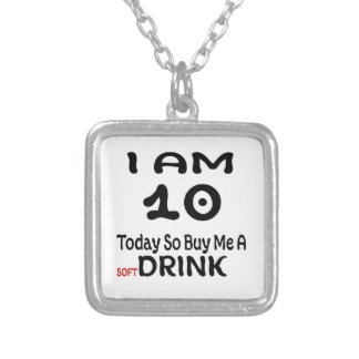 10 Today So Buy Me A Drink Silver Plated Necklace