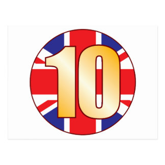 10 UK Gold Postcard