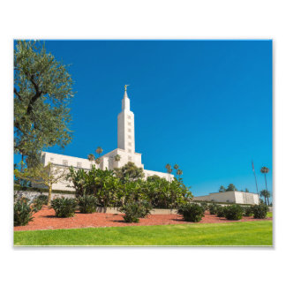 "10"" x 8"" Professional Photo LDS Los Angeles Temple"