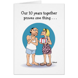 10 Year Anniversary Card: Love