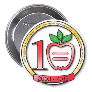 10 Year Anniversary Large Button