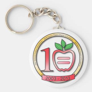 10 Year Anniversary Logo Key chain Button