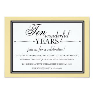 10 Year Anniversary Party Invitations