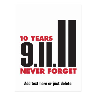 10 Year Anniversary September 11th Postcard