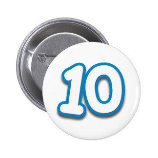 10 Year Birthday or Anniversary - Add Text 6 Cm Round Badge