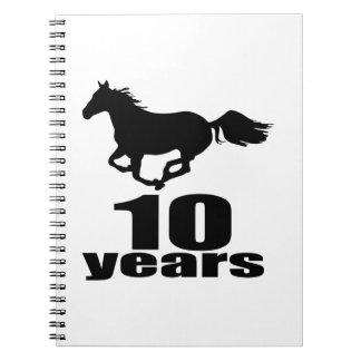 10 Years Birthday Designs Notebooks