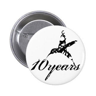 10 Years Button