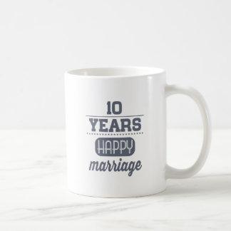 10 Years Happy Marriage Coffee Mug