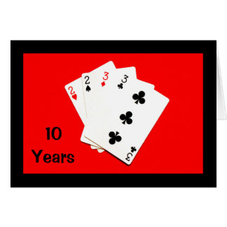 10 Years Is A Big Deal! Anniversary Card
