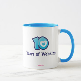 10 Years of Webkinz Logo Mug