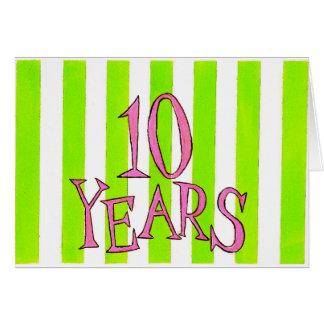 10 Years Sobriety Birthday / Anniversary Card