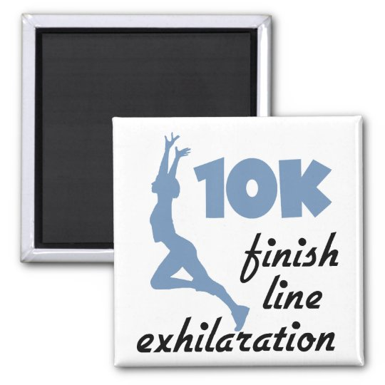 10K Blue Finish Line Magnet