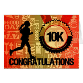 10K Run Congratulate Female Runner Card