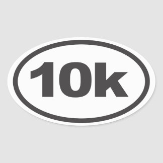 10K Running Oval Decal Oval Sticker
