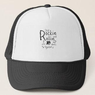 10th Anniversary - 10 Years Anniversary Couples Trucker Hat