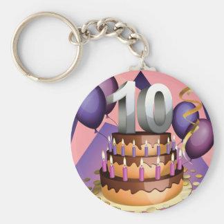 10th Anniversary Cake Keychain