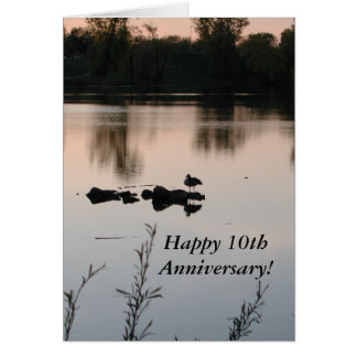 10th Anniversary Greeting Card