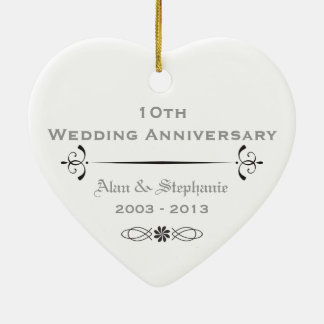 10th Anniversary Holiday Ornament