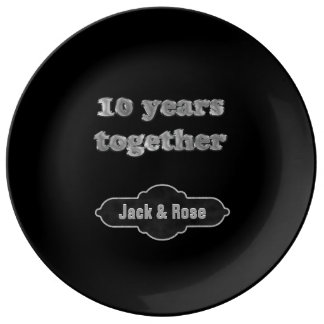 10th Anniversary Keepsake | 10 Years Together Porcelain Plates