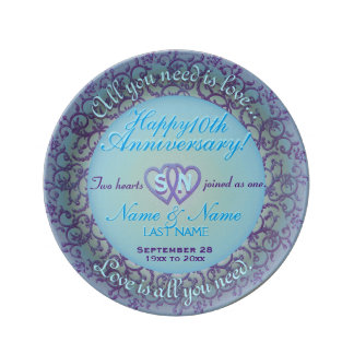 10th Anniversary Plate