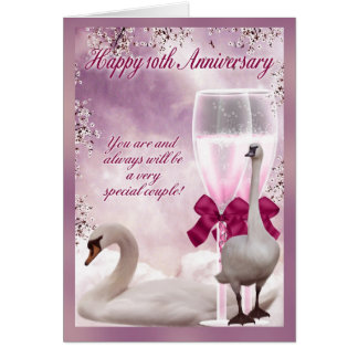 10th Anniversary - Tin Anniversary Greeting Card