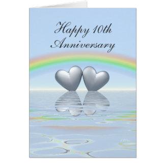 10th Anniversary Tin Hearts Cards