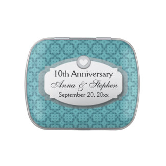 10th Anniversary Wedding Anniversary Z09 Candy Tins