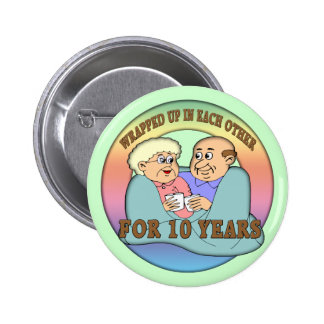 10th Anniversary Wedding Buttons