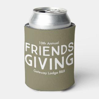 """10th Annual Friendsgiving"" CustomizableCan Cooler"