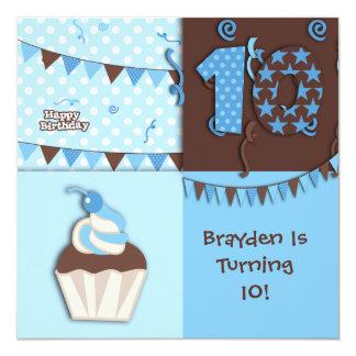 10th Birthday : Boy : Invitation