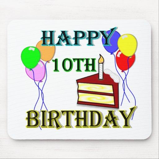 10th Birthday Cake Birthday Design Mousepad