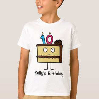 10th Birthday Cake with Candles T-Shirt